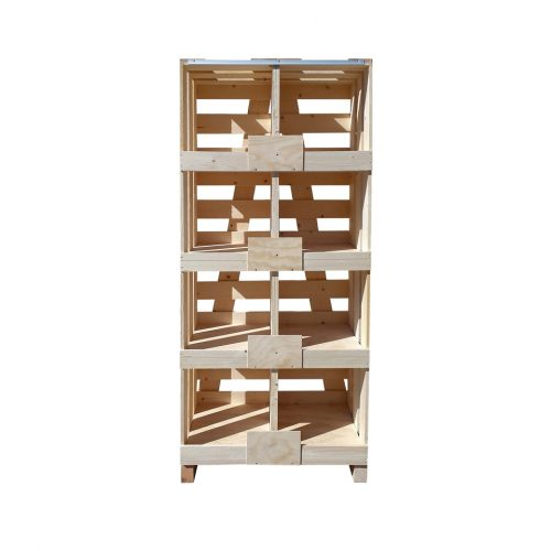 Wooden shelves and cupboards for retail