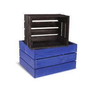 Krāsotas koka kastes