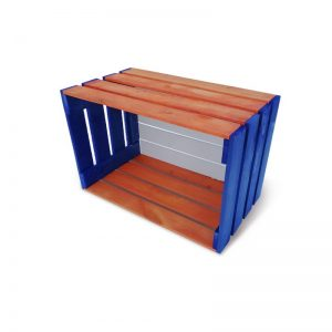 Multicolored wooden boxes
