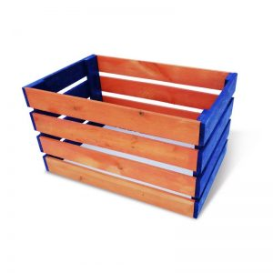 Moniväriset puulaatikot
