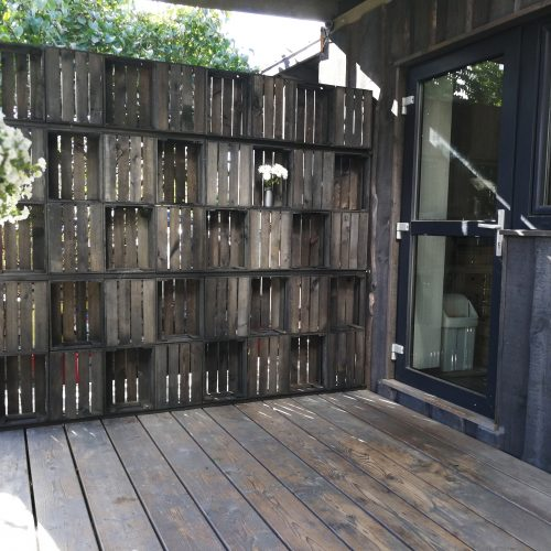 Wooden Box Wall