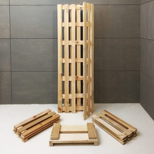 Foldable wooden cabinet display