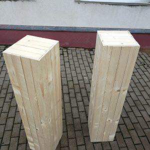 Koka dekoratīvie pilāri