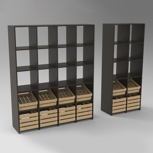 Low costs wooden shelves