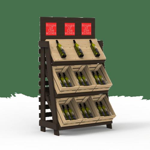 9 boxes wine display