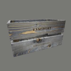 Birstētas koka kastes