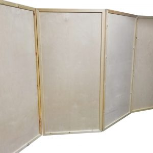 Foldable wooden screen wall
