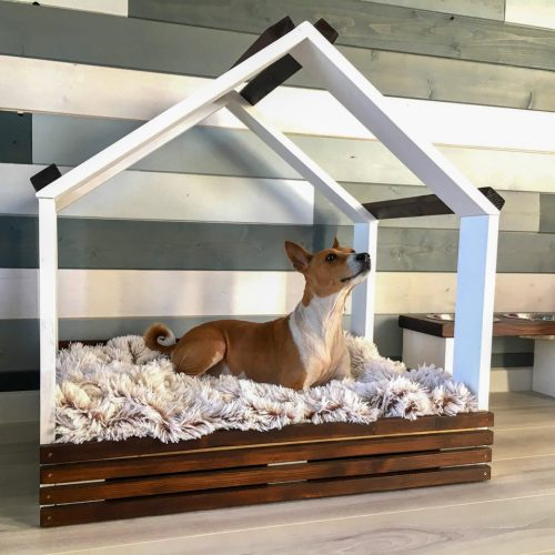 Wooden cots for dogs
