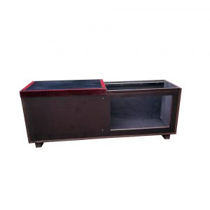 Shoe chest with sliding top