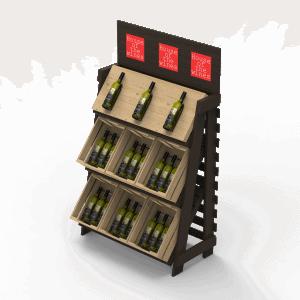 Vīna Stends no 9 kastēm