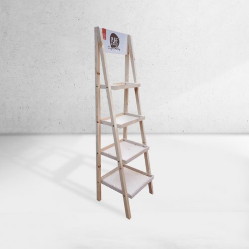 Ladder type 4 shelf stand