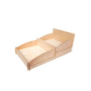Saliekams kompakts galda stends no finiera
