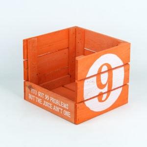 Koka kastes ar pilnu apdruku